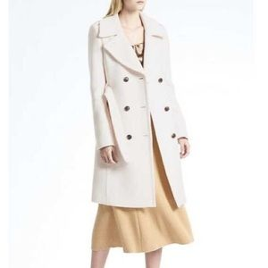 Banana Republic Italian Melton Wool Blend Coat